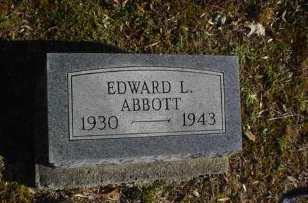 ABBOTT, EDWARD L. - Adams County, Ohio | EDWARD L. ABBOTT - Ohio Gravestone Photos