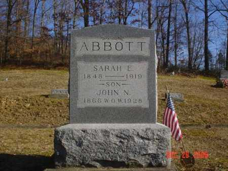 ABBOTT, SARAH E. - Adams County, Ohio | SARAH E. ABBOTT - Ohio Gravestone Photos