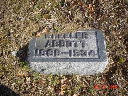 ABBOTT, WHEELER - Adams County, Ohio | WHEELER ABBOTT - Ohio Gravestone Photos