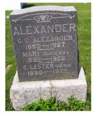 ALEXANDER, MARY - Adams County, Ohio | MARY ALEXANDER - Ohio Gravestone Photos