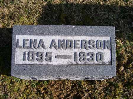 ANDERSON, LENA - Adams County, Ohio | LENA ANDERSON - Ohio Gravestone Photos
