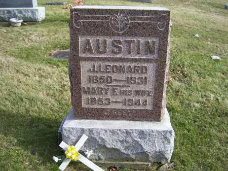 AUSTIN, MARY F. - Adams County, Ohio | MARY F. AUSTIN - Ohio Gravestone Photos