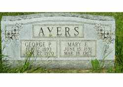 AYERS, MARY E. - Adams County, Ohio | MARY E. AYERS - Ohio Gravestone Photos