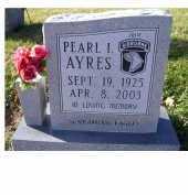 AYRES, PEARL I. - Adams County, Ohio | PEARL I. AYRES - Ohio Gravestone Photos
