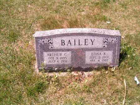 BAILEY, ARTHUR C - Adams County, Ohio | ARTHUR C BAILEY - Ohio Gravestone Photos