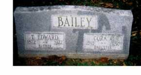 BAILEY, T. EDWARD - Adams County, Ohio | T. EDWARD BAILEY - Ohio Gravestone Photos
