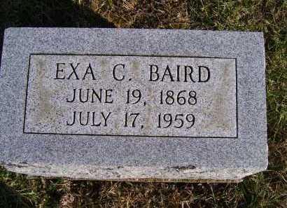 BAIRD, EXA C. - Adams County, Ohio | EXA C. BAIRD - Ohio Gravestone Photos