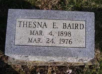 BAIRD, THESNA E. - Adams County, Ohio | THESNA E. BAIRD - Ohio Gravestone Photos