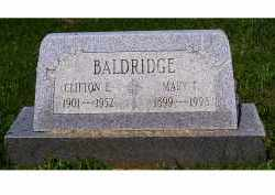 BALDRIDGE, CLIFTON E. - Adams County, Ohio | CLIFTON E. BALDRIDGE - Ohio Gravestone Photos