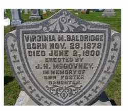 BALDRIDGE, VIRGINIA M. - Adams County, Ohio | VIRGINIA M. BALDRIDGE - Ohio Gravestone Photos