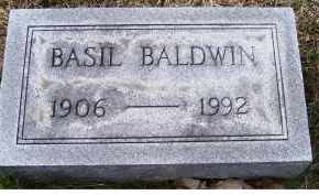 BALDWIN, BASIL - Adams County, Ohio | BASIL BALDWIN - Ohio Gravestone Photos