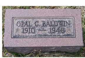 BALDWIN, OPAL C. - Adams County, Ohio | OPAL C. BALDWIN - Ohio Gravestone Photos