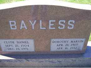 BAYLESS, CLYDE DANIEL - Adams County, Ohio | CLYDE DANIEL BAYLESS - Ohio Gravestone Photos