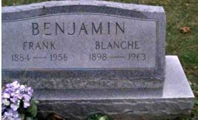 BENJAMIN, BLANCHE - Adams County, Ohio | BLANCHE BENJAMIN - Ohio Gravestone Photos