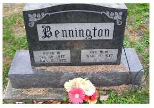 BENNINGTON, OLA RUTH - Adams County, Ohio | OLA RUTH BENNINGTON - Ohio Gravestone Photos