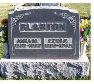 BLANTON, EZRA F. - Adams County, Ohio | EZRA F. BLANTON - Ohio Gravestone Photos