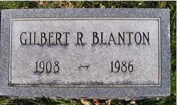 BLANTON, GILBERT R. - Adams County, Ohio | GILBERT R. BLANTON - Ohio Gravestone Photos