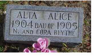 BLYTHE, ALTA ALICE - Adams County, Ohio | ALTA ALICE BLYTHE - Ohio Gravestone Photos