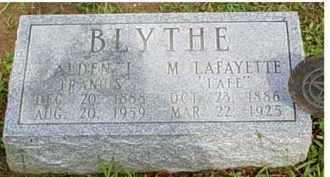 BLYTHE, ALDEN I. FRANCIS - Adams County, Ohio | ALDEN I. FRANCIS BLYTHE - Ohio Gravestone Photos