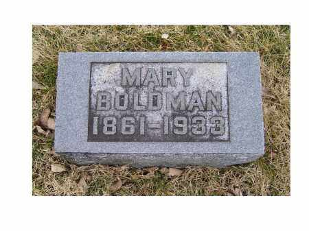 BOLDMAN, MARY - Adams County, Ohio | MARY BOLDMAN - Ohio Gravestone Photos