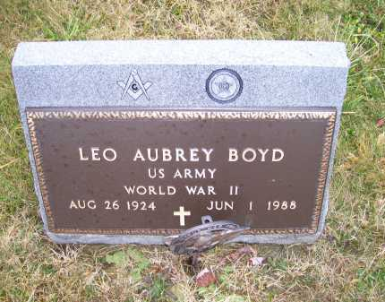 BOYD, LEO AUBREY - Adams County, Ohio | LEO AUBREY BOYD - Ohio Gravestone Photos