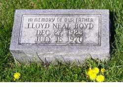 BOYD, LLOYD NEAL - Adams County, Ohio | LLOYD NEAL BOYD - Ohio Gravestone Photos