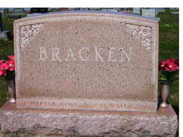 BRACKEN, FRANK B. - Adams County, Ohio | FRANK B. BRACKEN - Ohio Gravestone Photos