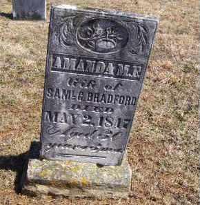 BRADFORD, AMANDA M. F. - Adams County, Ohio | AMANDA M. F. BRADFORD - Ohio Gravestone Photos