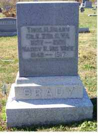 BRADY, THOS H. - Adams County, Ohio | THOS H. BRADY - Ohio Gravestone Photos