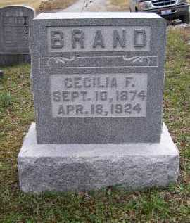 BRAND, CECILIA F. - Adams County, Ohio | CECILIA F. BRAND - Ohio Gravestone Photos