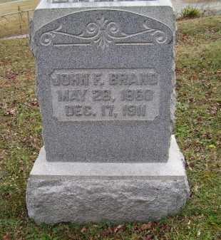 BRAND, JOHN F. - Adams County, Ohio | JOHN F. BRAND - Ohio Gravestone Photos