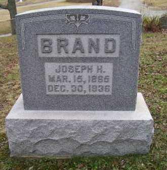 BRAND, JOSEPH H. - Adams County, Ohio | JOSEPH H. BRAND - Ohio Gravestone Photos