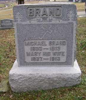 BRAND, MARY - Adams County, Ohio | MARY BRAND - Ohio Gravestone Photos