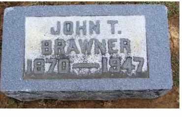 BRAWNER, JOHN T. - Adams County, Ohio | JOHN T. BRAWNER - Ohio Gravestone Photos