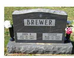 BREWER, JOHN R. - Adams County, Ohio | JOHN R. BREWER - Ohio Gravestone Photos