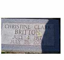 BRITTON, CHRISTINE - Adams County, Ohio | CHRISTINE BRITTON - Ohio Gravestone Photos