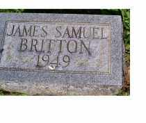 BRITTON, JAMES SAMUEL - Adams County, Ohio | JAMES SAMUEL BRITTON - Ohio Gravestone Photos