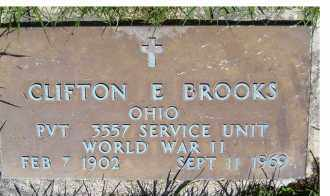 BROOKS, CLIFTON E. - Adams County, Ohio | CLIFTON E. BROOKS - Ohio Gravestone Photos