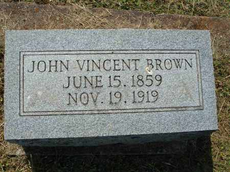 BROWN, JOHN VINCENT - Adams County, Ohio | JOHN VINCENT BROWN - Ohio Gravestone Photos