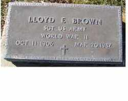 BROWN, LLOYD  E. - Adams County, Ohio | LLOYD  E. BROWN - Ohio Gravestone Photos