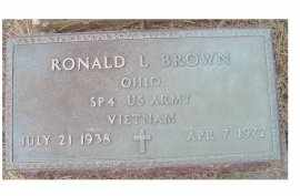 BROWN, RONALD L. - Adams County, Ohio | RONALD L. BROWN - Ohio Gravestone Photos