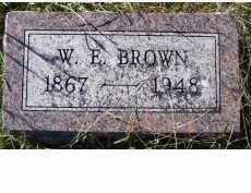 BROWN, W.E. - Adams County, Ohio | W.E. BROWN - Ohio Gravestone Photos