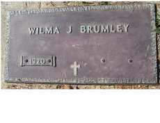 BRUMLEY, WILMA J. - Adams County, Ohio | WILMA J. BRUMLEY - Ohio Gravestone Photos