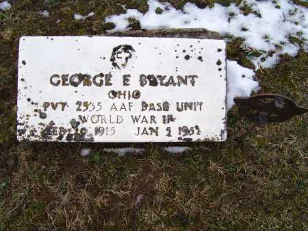 BRYANT, GEORGE E. - Adams County, Ohio | GEORGE E. BRYANT - Ohio Gravestone Photos