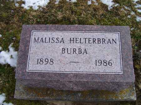 BURBA, MALISSA - Adams County, Ohio | MALISSA BURBA - Ohio Gravestone Photos
