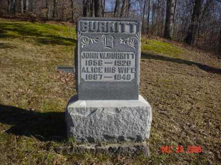 BURKITT, ALICE - Adams County, Ohio | ALICE BURKITT - Ohio Gravestone Photos