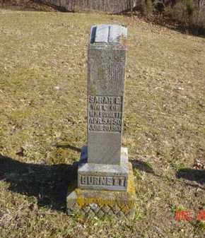 BURNETT, SARAH E. - Adams County, Ohio | SARAH E. BURNETT - Ohio Gravestone Photos