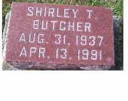 BUTCHER, SHIRLEY T. - Adams County, Ohio | SHIRLEY T. BUTCHER - Ohio Gravestone Photos