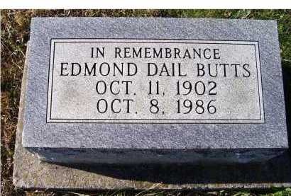 BUTTS, EDMOND DAIL - Adams County, Ohio | EDMOND DAIL BUTTS - Ohio Gravestone Photos