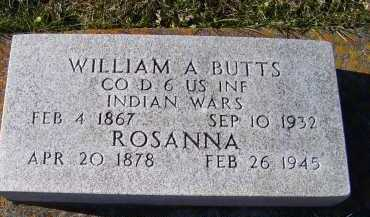 BUTTS, ROSANNA - Adams County, Ohio | ROSANNA BUTTS - Ohio Gravestone Photos